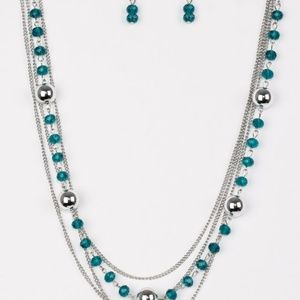paparazzi Jewelry - High Standards - Blue Necklace Set